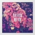 Pink Roses Soft Grunge Never Mind Canvas Print