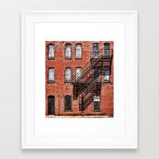 Tenement facade  Framed Art Print