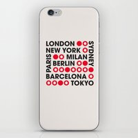 I Love This City Typogra… iPhone & iPod Skin