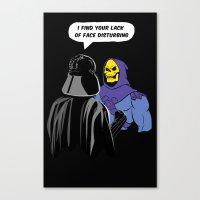 Vader Skeletor I Find Yo… Canvas Print