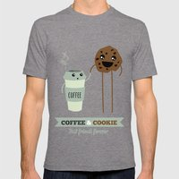 COFFEE & COOKIE Mens Fitted Tee Tri-Grey SMALL