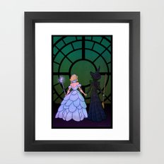Glinda and Elphaba Framed Art Print