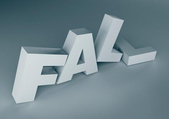 Fall - Type as image Art Print