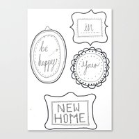 Be happy in your new home Canvas Print