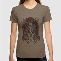 Rare Hearts Womens Fitted Tee Tri-Coffee SMALL