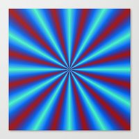 Red And Blue Pleats Canvas Print