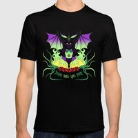 Maleficent Mens Fitted Tee Black SMALL