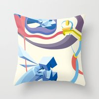 Diamonds, Hoses, Stairs,… Throw Pillow