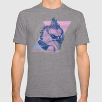 For the Birds Mens Fitted Tee Tri-Grey SMALL
