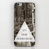 Let's Explore the World Together iPhone & iPod Skin