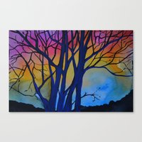 Rainbow Tree Canvas Print