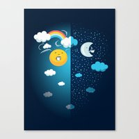 Night And Day Canvas Print