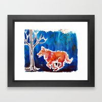 Doggy Love Framed Art Print