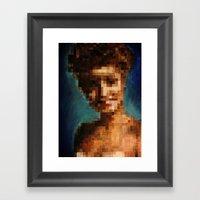 Who Pixelated Laura Palmer :; Twin Peaks Framed Art Print