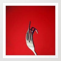 Fork You Art Print