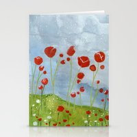 my dreams are only wishes // poppyfields Stationery Cards
