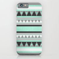 iPhone Cases featuring Turquoise Tribal by Elisabeth Fredriksson