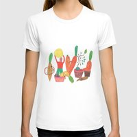 Vegetables Party. Womens Fitted Tee White SMALL