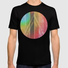 Away Searching For Oceans SMALL Mens Fitted Tee Black