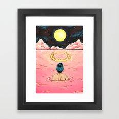 O for Ocean   Alphabet Zine Framed Art Print