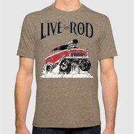 1955 CHEVY CLASSIC HOT R… Mens Fitted Tee Tri-Coffee SMALL