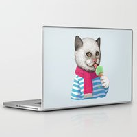 ice cream Laptop & iPad Skins featuring Ice cream by Tummeow