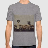 Gatos En El Tejado Mens Fitted Tee Athletic Grey SMALL