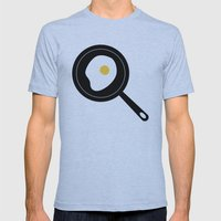 Fried Egg Mens Fitted Tee Athletic Blue SMALL