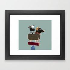 the little dog  Framed Art Print