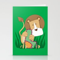 L is for Lion.. Stationery Cards