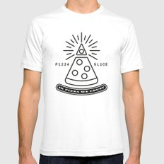 Dollar Slice WHITE Mens Fitted Tee White SMALL