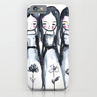 3 girls black and white iPhone 6 Slim Case