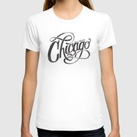 CHICAGO, IL Womens Fitted Tee White SMALL