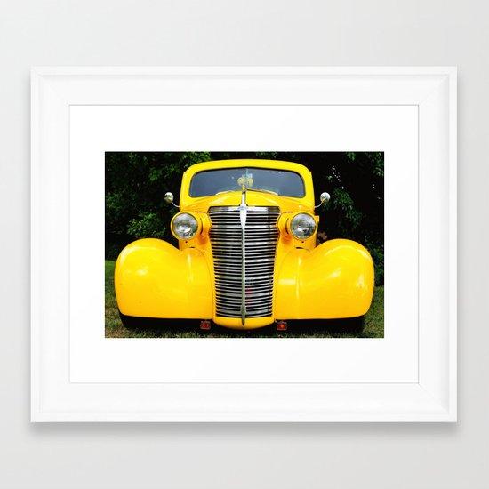 Yellow Chevy Framed Art Print