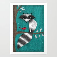 CUSHY TAIL Art Print