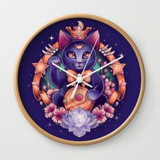 Maneki Luna Wall Clock