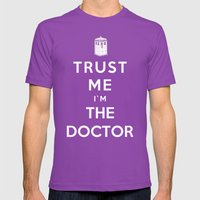 Trust Me I`m The Doctor Mens Fitted Tee Ultraviolet SMALL