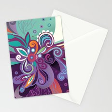 Floral curves of Joy Stationery Cards
