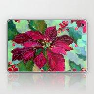 Christmas Poinsettia 3 Laptop & iPad Skin
