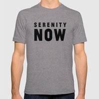 Serenity Now! Mens Fitted Tee Tri-Grey SMALL