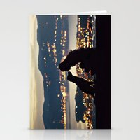 Girl And Dog Silhouettes… Stationery Cards