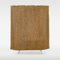 Weave wicker Shower Curtain