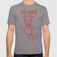 GO HARD OR GO HOME FRENC… Mens Fitted Tee Tri-Grey SMALL