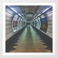 Underground: Waterloo Art Print