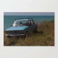 Car On The Coast Canvas Print