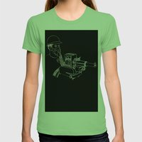 Gasmask Projector                          Womens Fitted Tee Grass SMALL