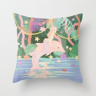 Mermaiden Throw Pillow