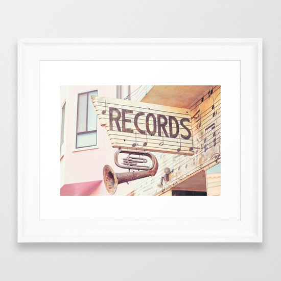 Records Framed Art Print