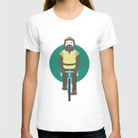 Cyclesquatch Womens Fitted Tee White SMALL