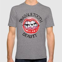 Snaggletooth Beauty Mens Fitted Tee Tri-Grey SMALL